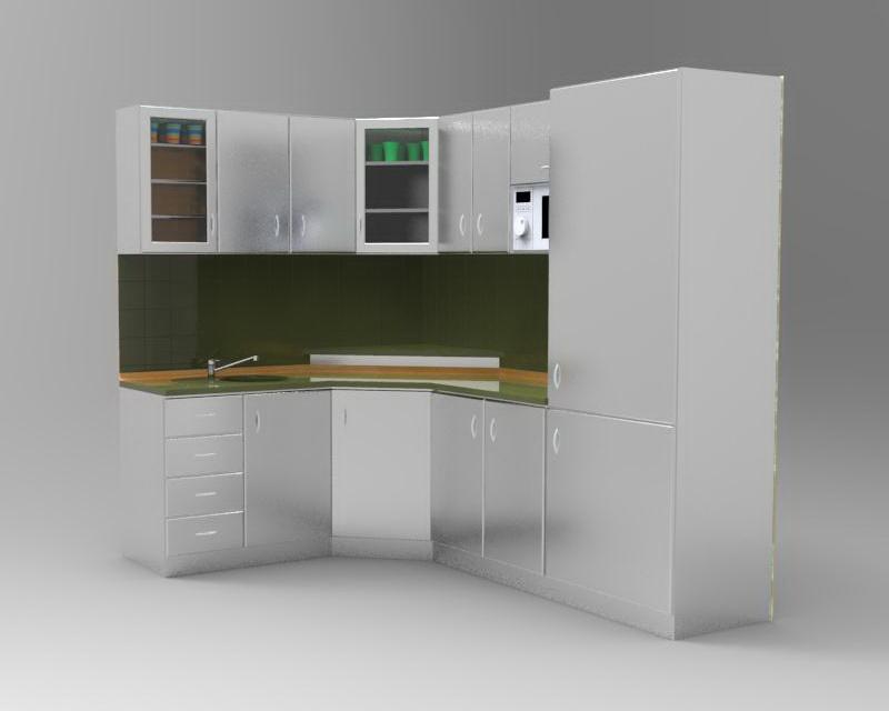 kitchen set stainless