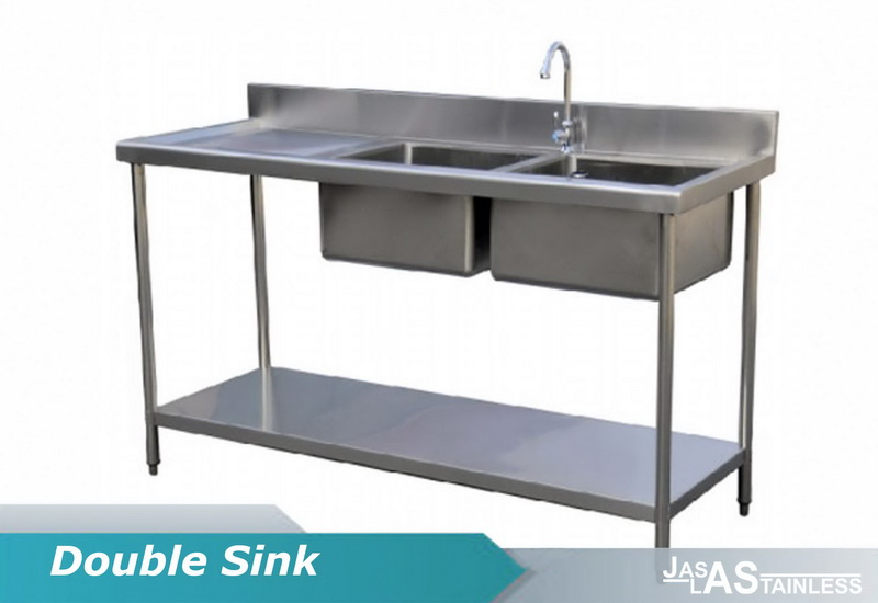 double sink stainless