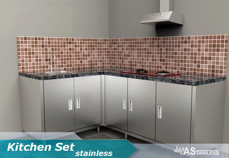 desain kitchen set stainless